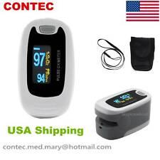 Finger Pulse Oximeter Blood Oxygen Monitor Spo2 Oled Heart Rate Tester Free Bag
