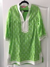 NWT $125 Preppy Girl Palm Beach Sloane Green Pineapple Tunic Dress MEDIUM M GIFT