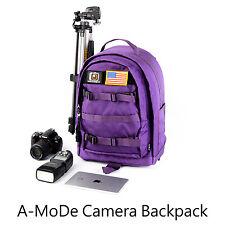 DSLR Camera Bag Backpack Video Photo Bags for Camera gopro DJI purple women FS