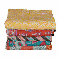 Wholesale Lot Kantha Quilt Vintage Reversible Throw Handmade Coverlets Bedspread