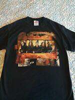 Vintage Black 100% Cotton Korn  Rock T-shirt Size Medium