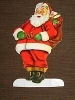 "VINTAGE 6"" HIGH ITHACA SAVINGS BANK CARDBOARD CHRISTMAS CLUB SANTA CLAUS AD"