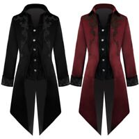 Mens Medieval Jacket Pirate Costume Tailcoat Renaissance Gothic Victorian Coats