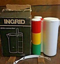 Vintage Ingrid White Drink Connection Picnic Pitcher 20670 Open Box