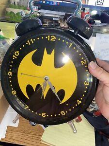 "Batman Wall Clock- 9 1/2"" 10 1/2"" alarm Black Batman Wall Clock US SELLER!"