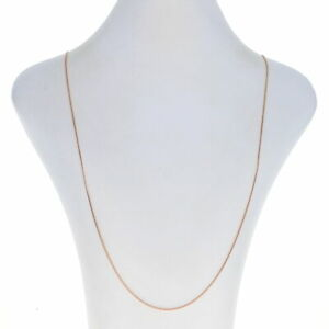 Sterling Silver Square Franco Chain Necklace - 925 Rose Gold Plated Adjustable