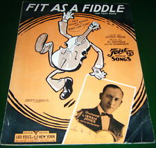Fit As A Fiddle 1932 Sheet Music Isham Jones Cover, Feist, Published in Canada