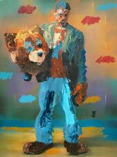 ORIGINAL Abstract Kanye West Bear Suit Dropout Hip Hop Music Wall Art Painting