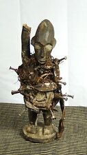 ANTIQUE 19c AFRICAN TRIBAL NKISI KONGO PEOPLE,DR CONGO FETISH POWER FIGURE #3