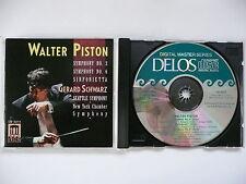 Gerard Schwarz conduct Walter Piston Symphony Nos 2 & 6 Seattle SO Delos 3074 CD