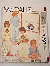 Mc-7797 Raggedy Ann Pajama Sleeping Bag Sewing Pattern McCall's Size 6 Complete