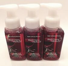 3 BATH & BODY WORKS BLACK CHERRY MERLOT GENTLE FOAMING HAND SOAP 8.75oz NEW!