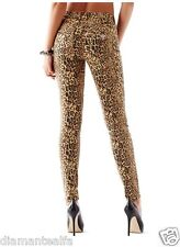 GUESS Women's 1981 High-Rise Skinny Jeans with Drew Leopard Print sz 26