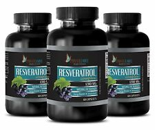Natural Resveratrol Powder 1200mg -  Anti-Aging - Antioxidant - 180 Capsules 3 B