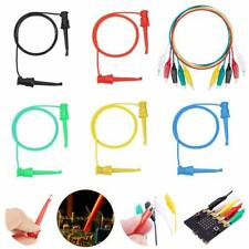 Daoki 5pcs Test Hook Clip Dual Silicone Probe Test Lead 5 Color For Icpinchip