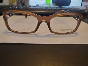 NEW Giorgio Armani Eyeglasses AR7011 5044 Transparent Brown Plastic 53 17 135