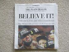 6/20/16 CLEVELAND CAVALIERS WIN NBA CHAMPIONSHIP PLAIN DEALER FULL NEWSPAPER NEW