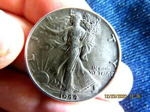 BETTER DATE AU NO PRBLEM 1944-P WALKING LIBERTY SILVER HALF DOLLAR #1 NICE COIN