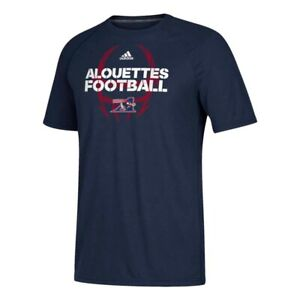 Montreal Alouettes CFL Adidas Men's Navy Blue Sideline Mantra Climalite T-Shirt