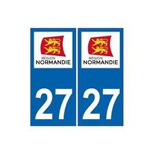 27 Eure autocollant plaque Normandie Sticker immatriculation nouveau logo droits
