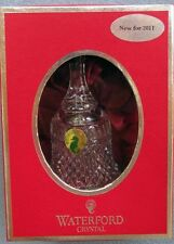 Waterford Crystal 2011 1st Ed. PAX Peace Bell Christmas New and Mint in Box