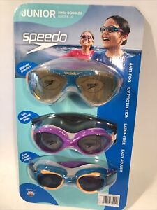 Junior Speedo Swim Googles Ages 6-14 - Anti-Fog UV Protection Neoprene Strap