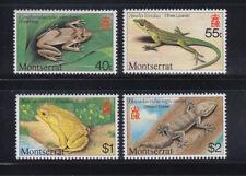 Montserrat 1980 Lizard Frog Sc 410-413  Mint never hinged