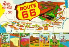 Map Of Route 66 From Los Angeles To Chicago Poster Print, 19x13