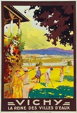 TX344 Vintage France VICHY Golf French Travel Poster Re-Print A2/A3/A4