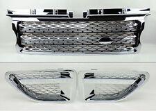 Range Rover Sport 06-09 Chrome Front Bumper Hood Grill w/ Side Fender Vents