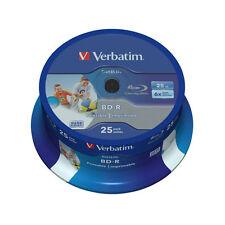 25 Pack Verbatim 43811 BD-R SL 25GB Datalife 6x - INKJET PRINTABLE