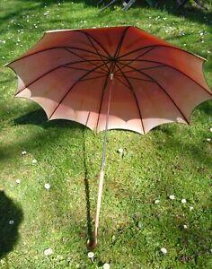 Sehr gut erhaltener Flanierschirm, Sonnenschirm aus der Zeit um 1900