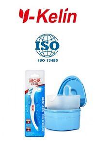 Soft Bristles Dual Heads Antibacterial Tooth Brush and Denture Box