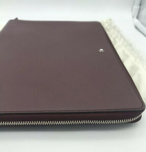 Montblanc Meisterstuck iPad/Tablet Leather Case With Ziper  Burgundy
