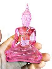 5406 THAI BUDDHA STATUE PEACEFUL LUCK AMULET GOD DEITY LOVE PINK ROSE HOME DECOR