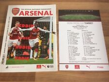 Arsenal v Swansea City Official Matchday Programme 28th October 2017