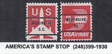 US SC C78b & C79b Set of 2 - Washington DC precancel - OG MNH - Airmail*