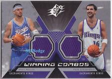 2005-06 SPx WINNING COMBOS DUAL SWATCH: BRAD MILLER/PEJA STOJAKOVIC - KINGS