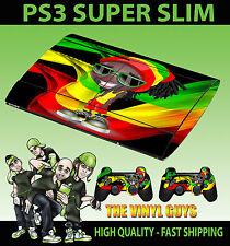 Playstation ps3 super slim Rasta Homme Dreadlock weed Homme Peau Autocollant +2 Pad peau