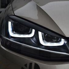 2X Headlights Eyebrow Eyelids ABS Chrome Glossy Trim For VW Golf 7 VII MK7 GTI