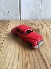Mettoy Red Saloon Vintage Toy Car   Friction Drive  Tin Plate Base Plastic Upper