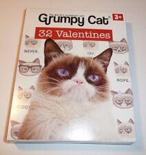 Grumpy Cat 32 Children's Valentines - Valentine's Day Cards Kids 8 Designs Class