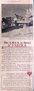 Y.M.C.A. 'War Service Fund' Advert (Australian Mobile Canteen) - WW2 1942 Print