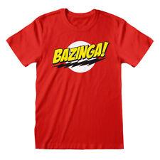 Bazinga Big Bang Theory TV Official Sheldon Cooper Red Men T-shirt