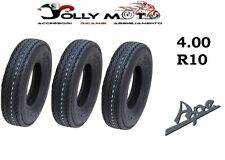 3 pneumatici 4.00-10  PR6 per PIAGGIO APE MP 500  APE 175 union 1 Ant. + 2 Post.