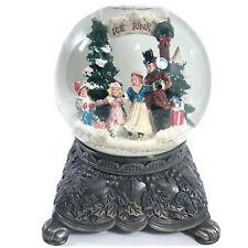 """Christmas Snow Globe Vintage 1992 Plays """"Silver Bells"""" Metal Base Mercuries PA."""