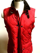 Polo Ralph Lauren women equestrian red quilted crest barn vest  size medium