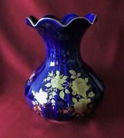 Wunsiedel Retsch Bavaria Porzellan - Vase H. 23 cm. Echt Kobalt, Echt Gold !