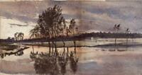 CATHERINE MAUDE NICHOLS (1847-1923) Watercolour Painting CHIMNEY IN LANDSCAPE