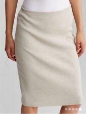 $198 BNWT EILEEN FISHER Washable Wool Crepe SEASALT Straight K/L Skirt XL T/G
